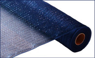 "Metallic Navy Blue with Royal Blue Foil - 21"" X 10Yd (RE100157)"