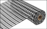 "White and Black Basket Weave - 10"" x 10Yd (RE1356FF)"