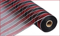 "Garnet and Black Stripe w/ White - 21"" X 10Yd"