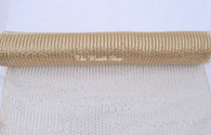 "Metallic Champagne Decor Mesh - 21"" X 10Yd - Thin"