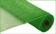 "Lime Green with Lime Green Foil Deco Mesh - 21"" X 10Yd"