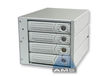 "4-in-3 SATA/SATA Backplane Module (beige), steel/aluminum. steel frames, fits in three 5.25"" bays. 150MB/s max speed."