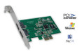 Silicon Image Sil3132 SATALink 3Gbps PCI-E Host Controller (2-Port eSATA) - Compatible to PC and Mac (PowerPC and Intel based). SPECS: * External SATA II (eSATA) Connector * 48 bit LBA can Break Capacity-Limit to Support HDD larger than 137GB * Supports 1-lane 2.5Gbps PCI Express * Hot-plug capability * Supports SATA II transfer rate of 3.0Gbps * Fully compliant with Serial ATA 1.0 specifications * Supports two independent Serial ATA channels * Independent Link, Transport, and data FIFO * Independent command fetch, scatter/gather, and command execution * Supports Legacy Command Queuing (LCQ) * Supports Native Command Queuing (NCQ) * Supports Non-zero offsets NCQ * Supports Out of order data delivery NCQ * Supports FIS-based switching with Port Multipliers (Drivers are maintained by SiliconImage.com)