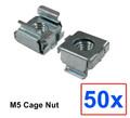 (CNM5) M5 Cage Nut w/ 50pcs