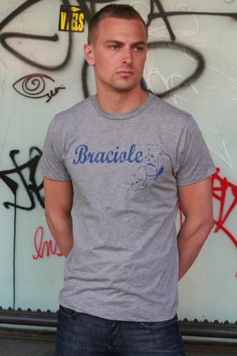 Heather Grey Tee w/ Blue Graphic