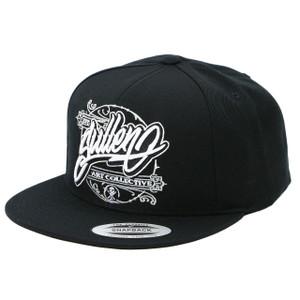 Sullen Sway Snapback Hat in black