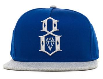 Rebel8 R8 Navy / Grey Snapback Hat