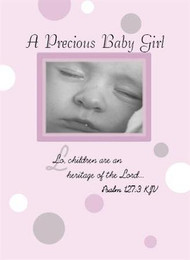 "A Precious Baby Girl - 5"" x 7"" KJV Greeting Card"