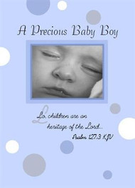 "A Precious Baby Boy - 5"" x 7"" KJV Greeting Card"