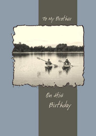 "To My Brother on His Birthday - 5"" x 7"" KJV Greeting Card"