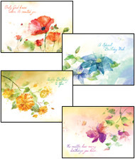 KJV Boxed Cards - Birthday, Floral Impressions