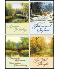 KJV Boxed Cards - Get Well, Peace in the Valley