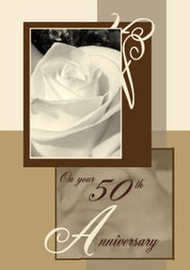 "God's Blessings as you celebrate 50 Years Together - 5"" x 7"" KJV Greeting Card"