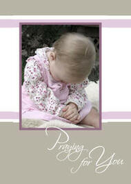 "Praying for You -5"" x 7"" KJV Greeting Card"