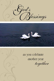 "God's Blessings as you celebrate another year together - 5"" x 7"" KJV Greeting Card"