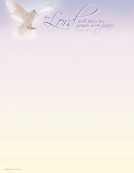 KJV Letterhead Paper - The Lord Will Bless His People With Peace