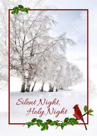 "Silent Night, Holy Night Christmas Card - 5"" x 7"" KJV Greeting Card"