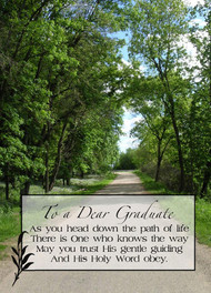 "To a Dear Graduate - 5"" x 7"" KJV Greeting Card"