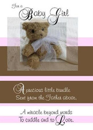"A Baby Girl - 5"" x 7"" KJV Greeting Card"