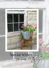 "Special Wishes on your Birthday - 5"" x 7"" KJV Greeting Card"