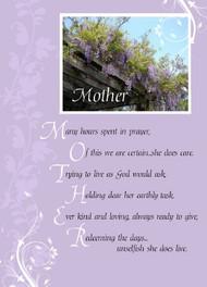 "Mother Poem - 5"" x 7"" KJV Greeting Card"