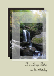 "To a Loving Father on his Birthday - 5"" x 7"" KJV Greeting Card"