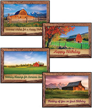 KJV Boxed Cards - Birthday, Barn Country