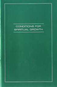 Conditions for Spiritual Growth - Book