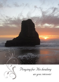 "Praying for His Healing as you Recover - 5"" x 7"" KJV Greeting Card"