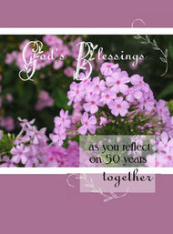 "God's Blessings - 50 Years - 5"" x 7"" KJV Greeting Card"