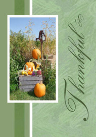 "Thankful - 5"" x 7"" KJV Greeting Card"
