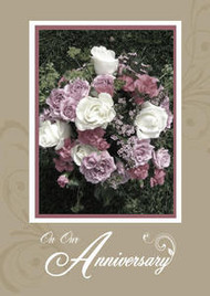 """On Our Anniversary - 5"""" x 7"""" KJV Greeting Card"""