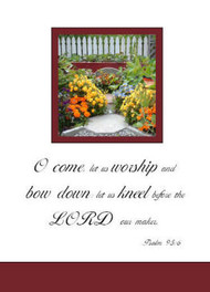 "Worship together - 5"" x 7"" KJV Greeting Card"