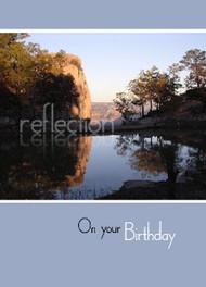 "Reflection - On Your Birthday - 5"" x 7"" KJV Greeting Card"
