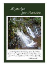 "As you Begin Your Repentance - 5"" x 7"" KJV Greeting Card"