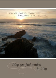 "May you find comfort in Him - 5"" x 7"" KJV Greeting Card"