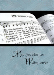 "May God Bless your Willing Service - 5"" x 7"" KJV Greeting Card"