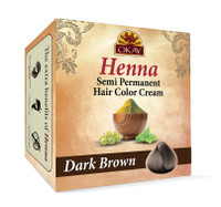 Henna Semi-Permanent Hair Color Cream - Dark Brown 2 oz
