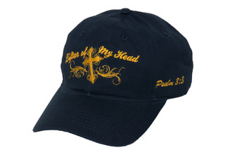 Ladies Cap-Lifter of My Head-Navy Blue