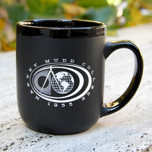 Black Matte Coffee Mug with Seal