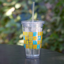 Acrylic Drinking Tumbler with Straw