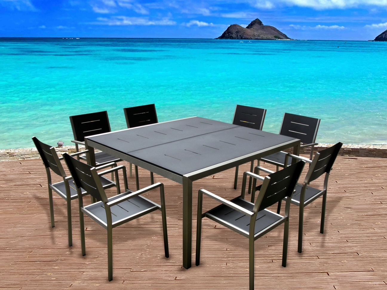 Outdoor 9PC Dining Set
