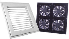 Ceiling vent system - Grill assembly and Fan assembly