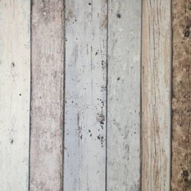 Grey Wood Panel Wallpaper | Hemingway Planking - Ash Grey 50-593 ...