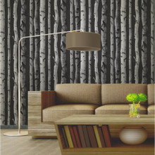 Birch Tree - Black/Silver