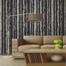 Birch Tree - Black/Silver