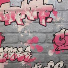 Graffiti - Pink/Silver