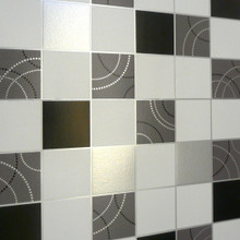Dotty Black / Silver Tiles Wallpaper 2670