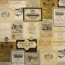 Wine Label Wallpaper by Norwall