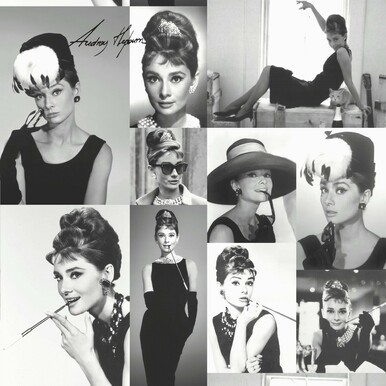 black and white photo audrey hepburn wallpaper